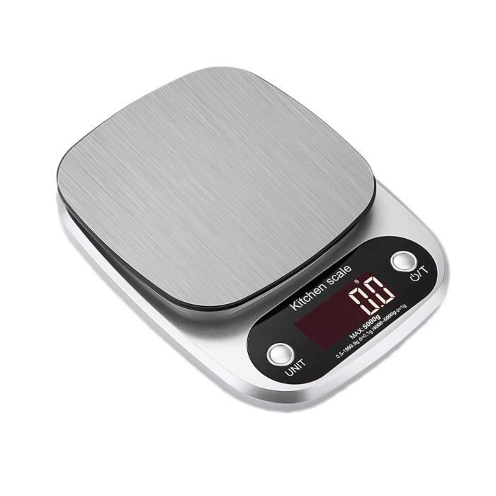 Balance de cuisine - électronique Balance de cuisine 5KG / 0.1G -aucune batterie incluse
