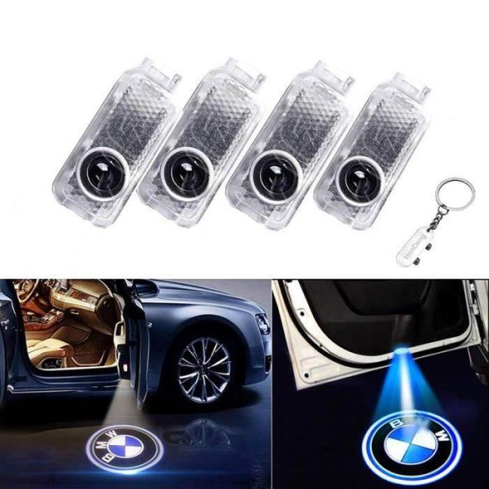 4 PCS Éclairage de Porte LED 3D Logo Lumière Auto Voiture Porte Lumières (BWM)