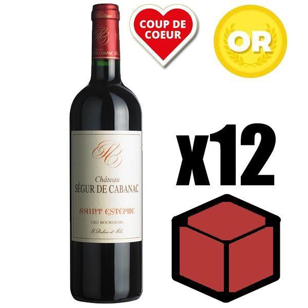 X12 Château Ségur de Cabanac 2016 75 cl AOC Saint-Estèphe Vin Rouge
