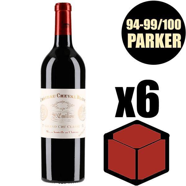 X6 Château Cheval Blanc 2000 75 cl AOC Saint-Emilion Grand Cru 1er Grand Cru Classé A Rouge Vin Rouge