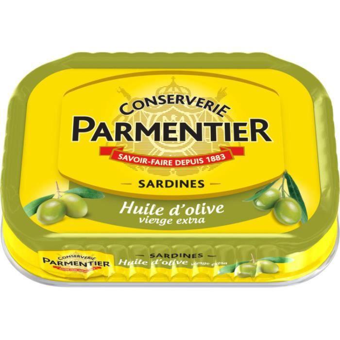 PAULET PAUL Sardines à l'huile d'olive Parmentier - 135 g