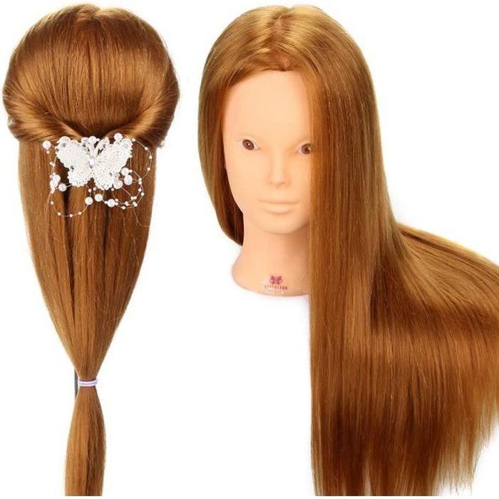 Têtes d'exercice pour coiffure Tête À Coiffer Professionnelle Neverland Têtes d'exercice 80% Vrais Cheveux coiffure Arti 520545