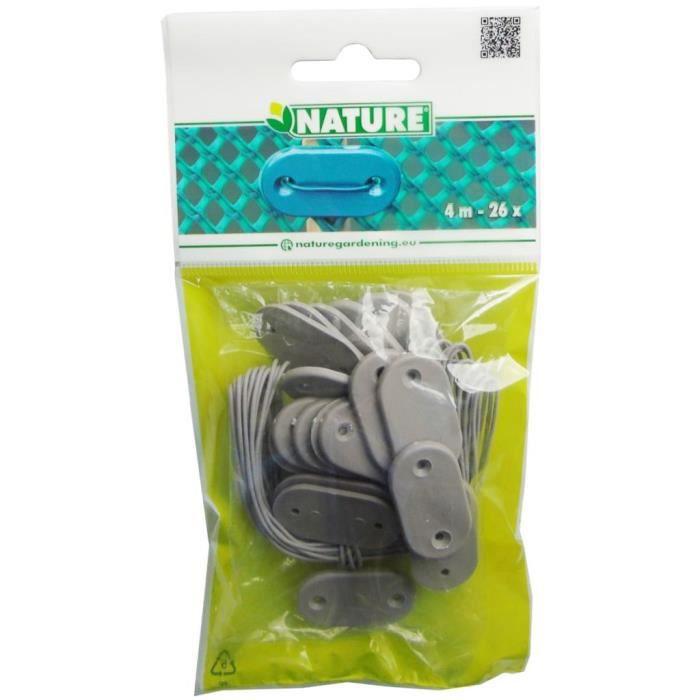 Nature Kit de fixation pour clôture de jardin 27 pcs Gris classique💎5148