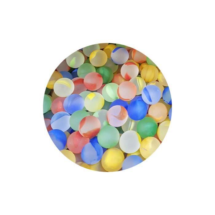 MesBilles - 30 Petites Billes Givré Couleur - Bille en verre 14 mm par MesBilles