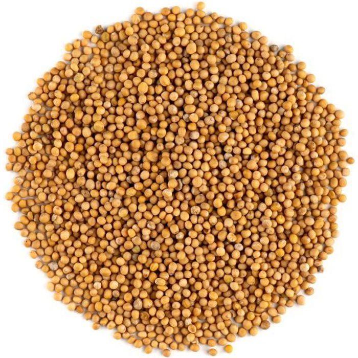 Graine De Moutarde Jaune - Graines De Moutardes Blanche 200g