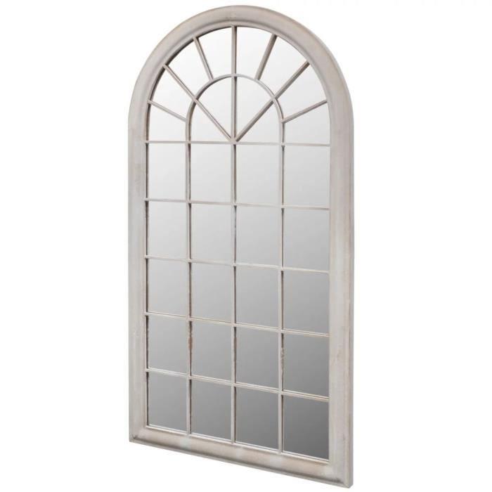 Miroir de Jardin Rustique Intérieur et Extérieur en Forme d'arche 116*60 cm
