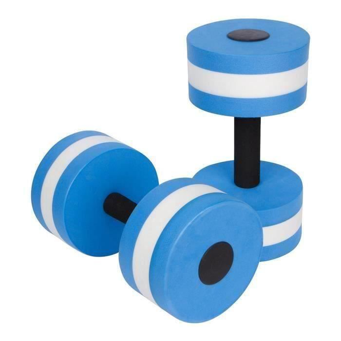 1 paire aquagym haltère aquatique EVA haltères aqua fitness piscine exercice accessoire Bleu