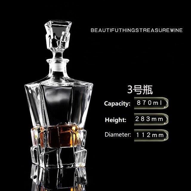 Bouteille de vin rouge en verre de cristal + tasses, carafe à vin, whisky Liqour verseur, Bar à domicile, bouteille de b*DE8093