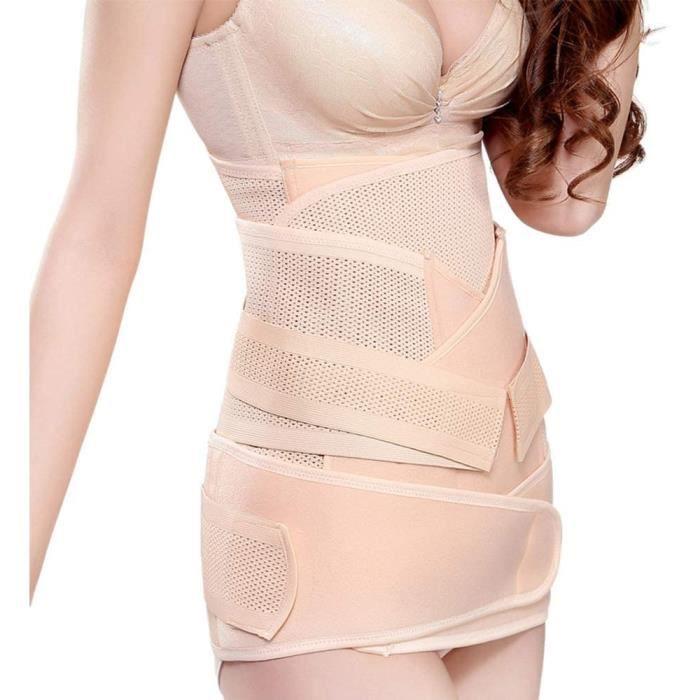 Ceinture abdominale YUXINCAI 3 en 1 Ceinture Post Accouchement, R&eacuteglable Femme Ceinture R&eacutecup&eacuteration Gaine 665