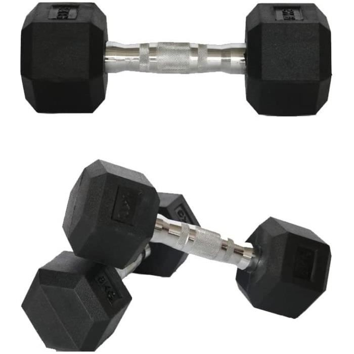Halteres Nealpar Lot de 1 halt&egraveres Poids disponibles : 1 kg 2,5 kg 3 kg 4 kg 5 kg 7 kg 8 kg 9 kg 10 kg 10 kg (n&eacuteop792