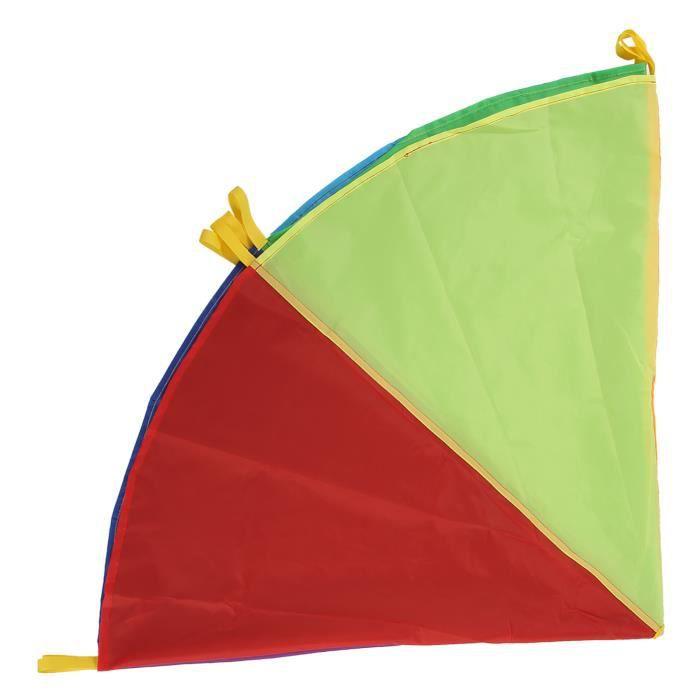 Drfeify Parachute enfant Jeu de Parachute Coloré Multifonction Équipement d'Éducation Précoce pour Coopération de Groupe(2m )