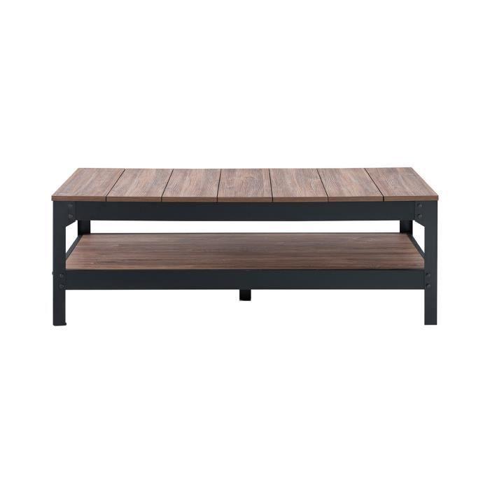 Table basse structure métallique laquée noire - CaliCosy Noir