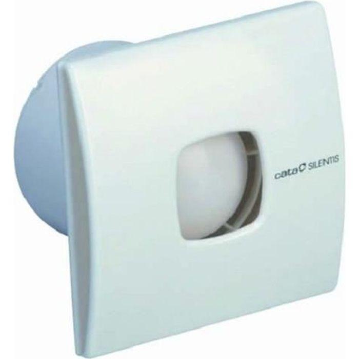 CATA SILENTIS 10 Extracteur d'air pour salle de bain Motif à carreaux 100 mm, 37db 98 m ³/h, facile à nettoyer, très silencieux