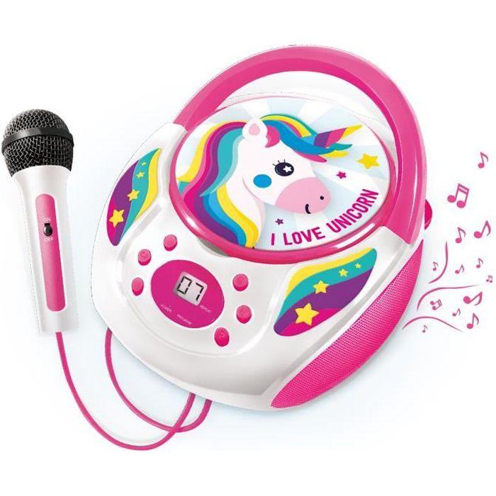 CANAL TOYS - I BELIEVE IN UNICORN - Lecteur CD avec micro enfant licorne