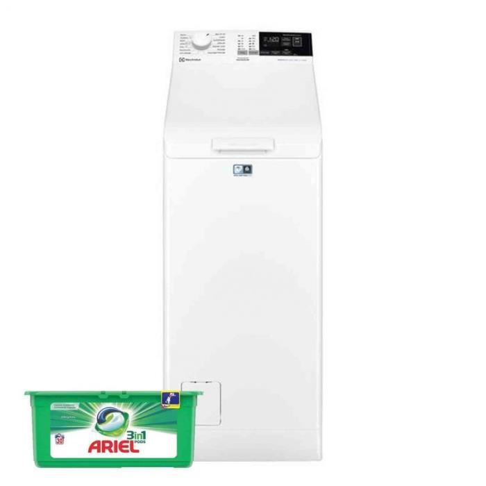 ELECTROLUX Lave-linge top 6kg 1200trs/min 14 Programmes Machine à laver 60 Blanc