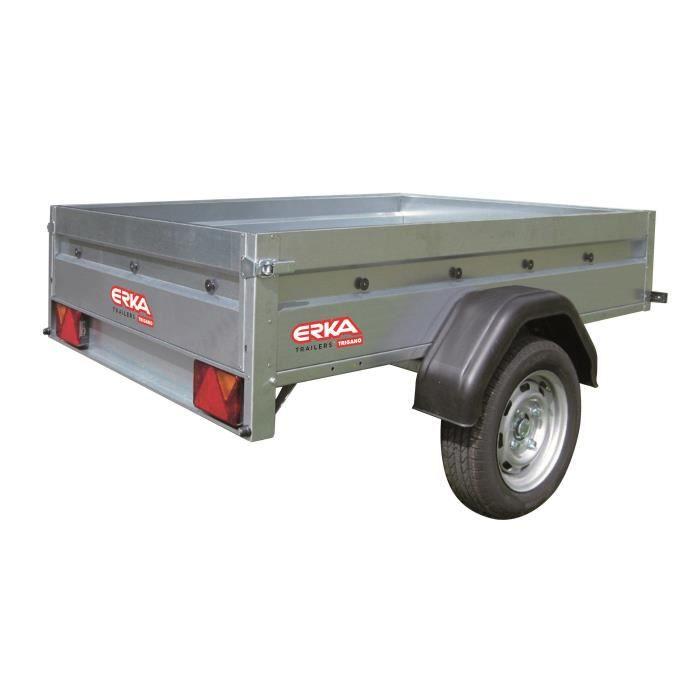 ERKA Remorque NLC 2012 - PTAC 500 kg - CU 354 kg - 200x120x35 cm