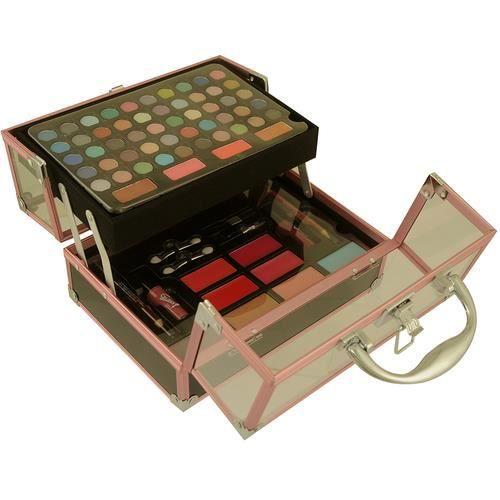 Coffret cadeau beauté mallette de maquillage Fashion Make-up Rose
