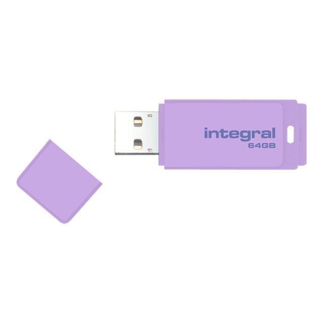 Integral Clé Usb Pastel 64 Go Usb 2.0 Lavande