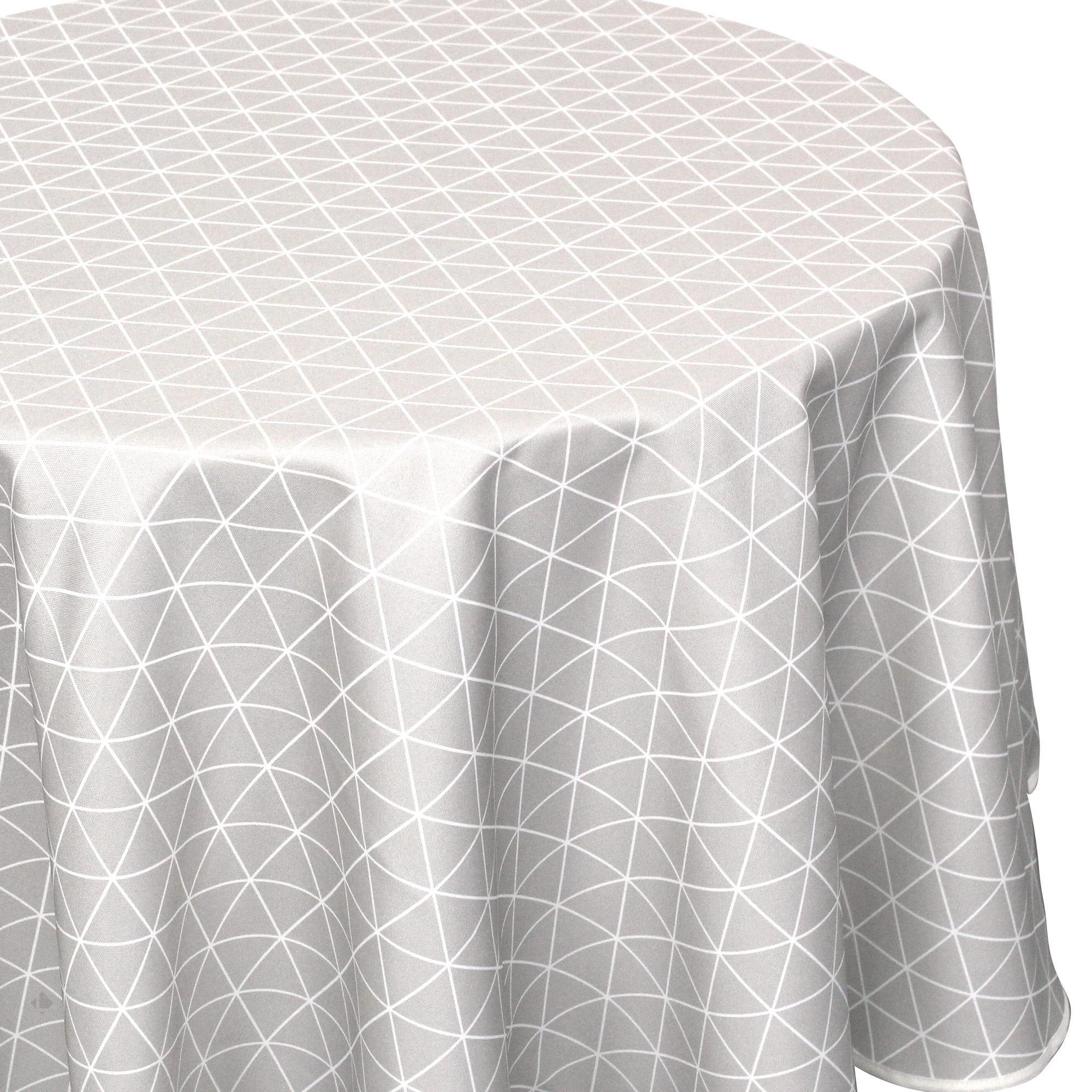 Nappe ovale 180x240 cm imprimée 100% polyester PACO géométrique Multicolore