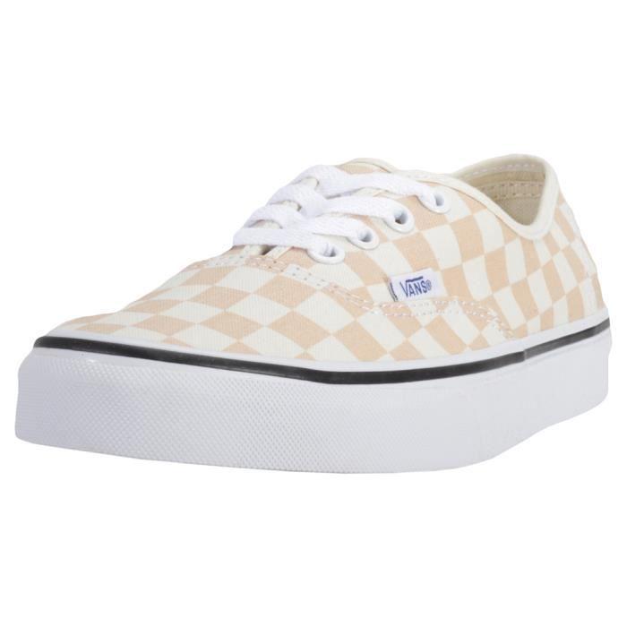 Vans Authentic Checkerboard Femmes Baskets Apricot - 9 UK