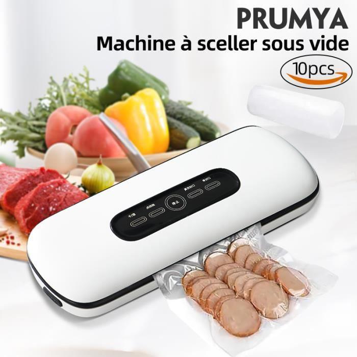 Prumya Machine Sous Vide Scelleuse Sous Vide Automatique Sec et Humide130W 30cm avec 10 Vacuum Sealer Sacs