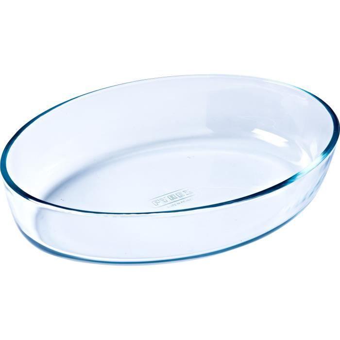 PYREX - ESSENTIALS - Plat à four ovale en verre 39*27 cm