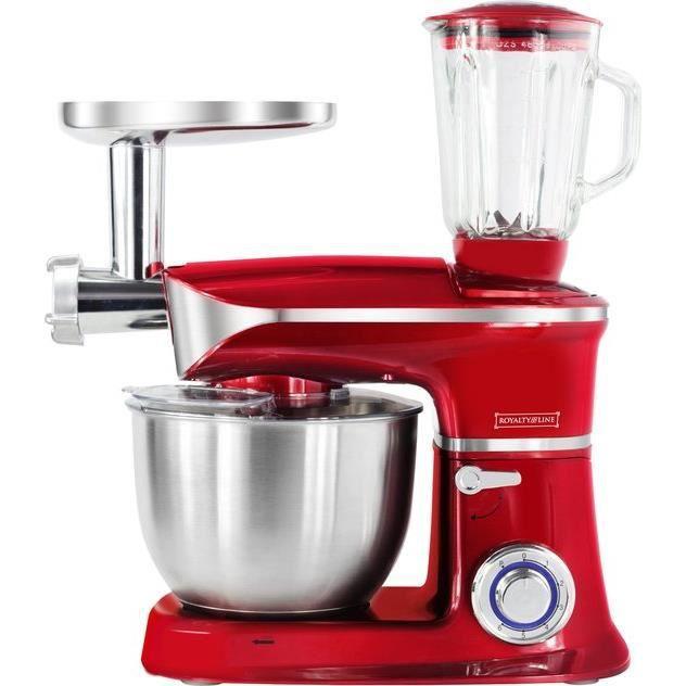 Robot de cuisine 6.5L 1900W multifonctionnel - 3 en 1 - Rouge PKM1900.7BG