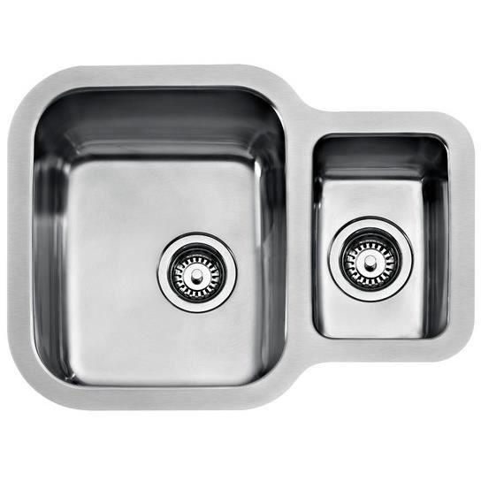 Teka BE 1 ½ C 625 REV, Évier de cuisine de surface, Carré, Acier inoxydable, Acier inoxydable, 2 bols, Carré