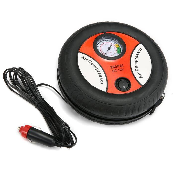 Compresseur d Air LCD USB 50L/min Portable Gonfleur de Pneus Pompe Auto