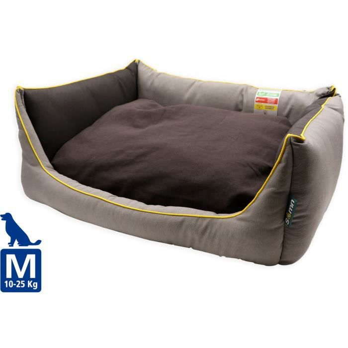 TYROL Couchage confortable triple action - Panier anti-odeurs, anti-insectes, anti-mites - 73 x 53 x 26 cm - Pour chien