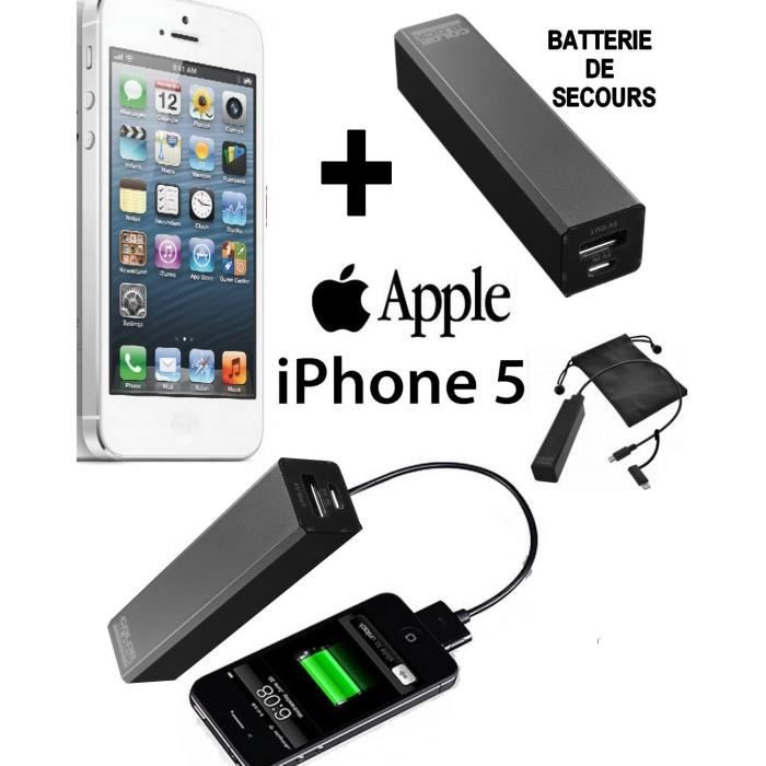 pack energy apple iphone 5 blanc 16go batterie achat smartphone pas cher avis et meilleur. Black Bedroom Furniture Sets. Home Design Ideas