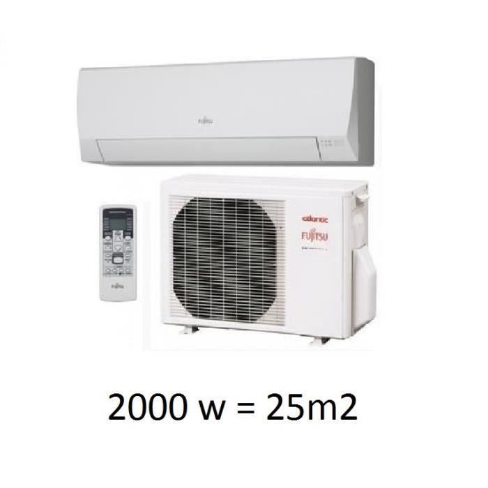 Climatisation mono split mural inverter atlantic fujitsu for Climatisation split mural