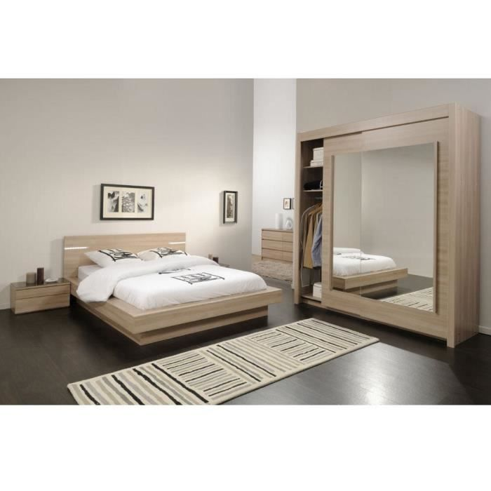Chambre coucher moderne eclair meuble house achat for Chambre a coucher bois moderne