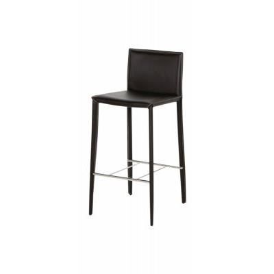 tabouret de bar andrew chaise haute en cuir achat vente tabouret cuir chrome cdiscount. Black Bedroom Furniture Sets. Home Design Ideas
