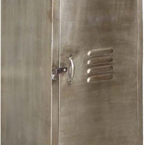 ARMOIRE DE BUREAU Vestiaire industriel en métal 1 porte Gris