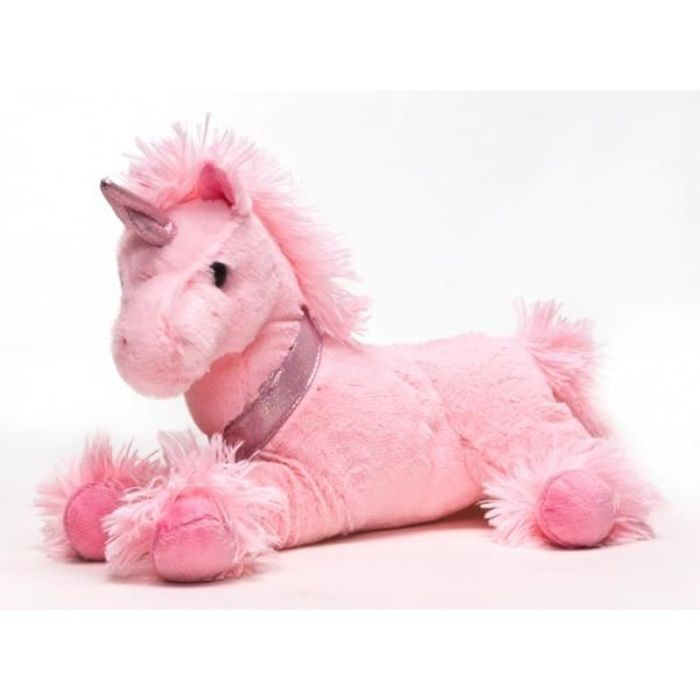 peluche licorne couch e rose tr s douce achat vente peluche cdiscount. Black Bedroom Furniture Sets. Home Design Ideas