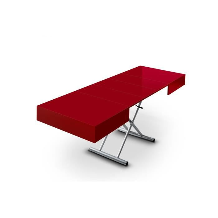 Table basse relevable extensible elevator rouge achat - Table basse relevable occasion ...