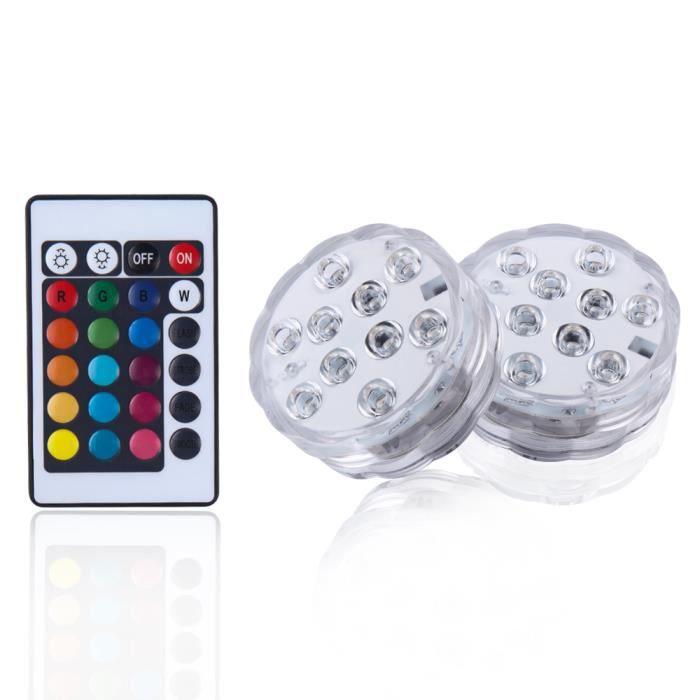 ECLAIRAGE SUBAQUATIQUE Lampe de plongée LED Coloré RGB Télécommande Étanc