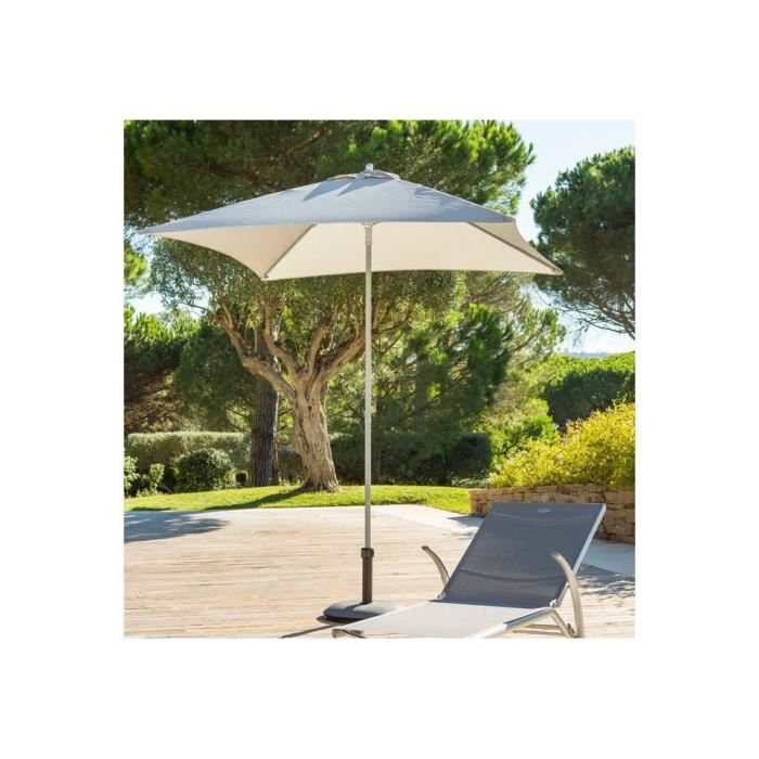 parasol anzio droit carre hesperide gris clair achat vente parasol parasol anzio carre gris. Black Bedroom Furniture Sets. Home Design Ideas