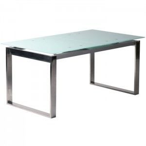 Table manger en verre cube avec rallonge 160 cm achat vente table man - Table a manger en verre ...
