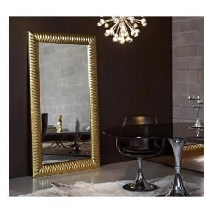 Hall grand miroir mural finition or achat vente miroir for Vente de miroir