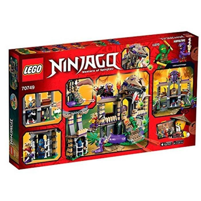 ASSEMBLAGE CONSTRUCTION Jeu D'Assemblage LEGO O7HDV Ninjago 70749 Entrez l