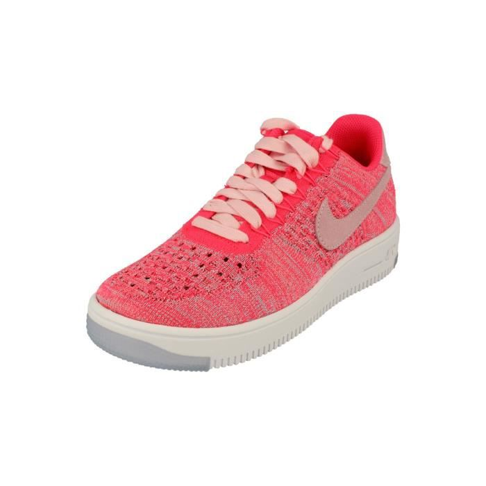CHAUSSURES DE RUNNING Nike Femme Af1 Air Force 1 Flyknit Low Running Tra