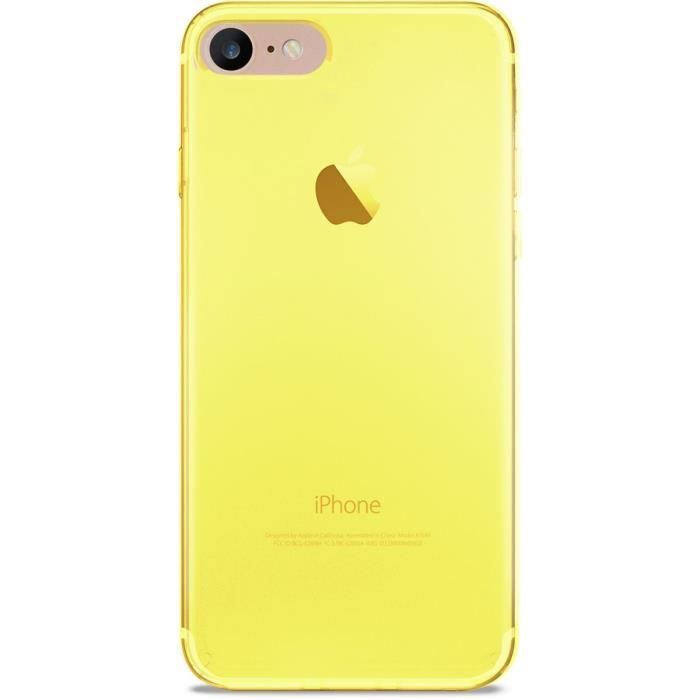 coque iphone 7 4 7 jaune fluo ultra slim 0 3 nud