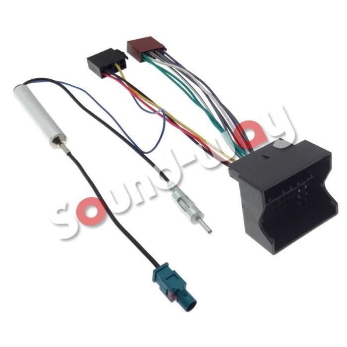 cable adaptateur iso autoradio peugeot 207 307 407 1007. Black Bedroom Furniture Sets. Home Design Ideas