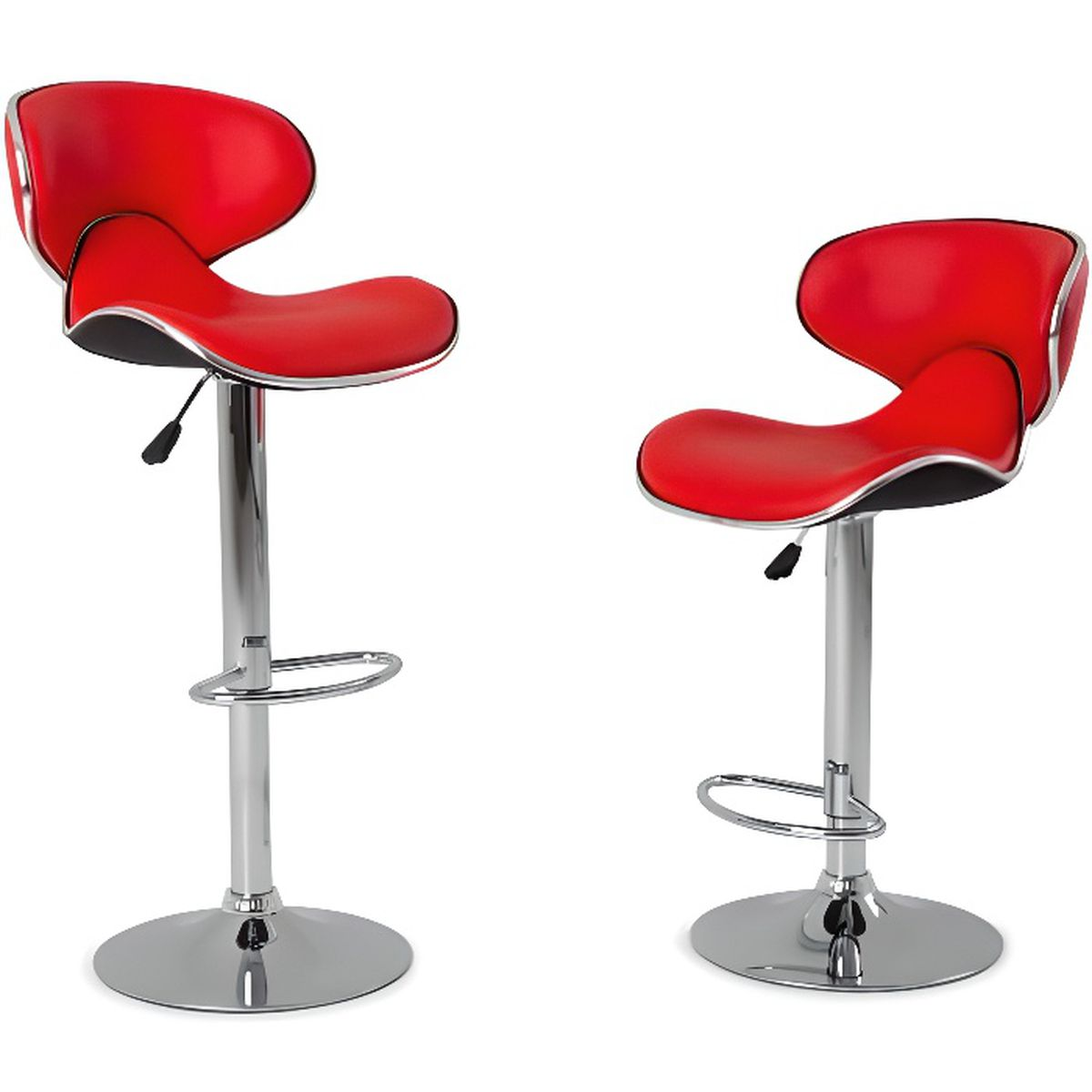 tabouret de bar rouge achat vente pas cher cdiscount. Black Bedroom Furniture Sets. Home Design Ideas