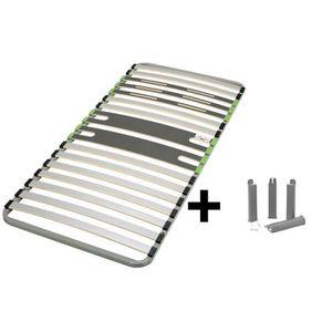 SOMMIER AltoZone - Pack Sommier 16 Lattes 90x200cm + Pieds