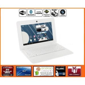 NETBOOK Mini ordinateur portable Netbook Blanc Android HDM