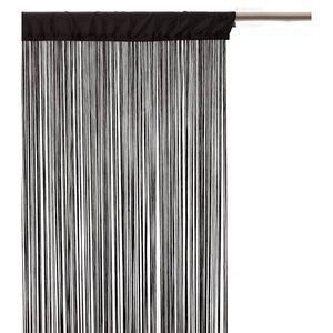 RIDEAU Rideau fils - 90 x 200 cm - Noir