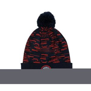 BONNET DE SPORT Bonnet Psg Pompon Bleu-Rouge